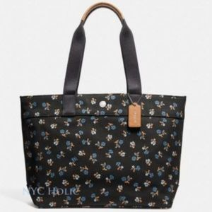 NEW!  Large Canvas Tote w/ Petite Flowers (FABGRAD